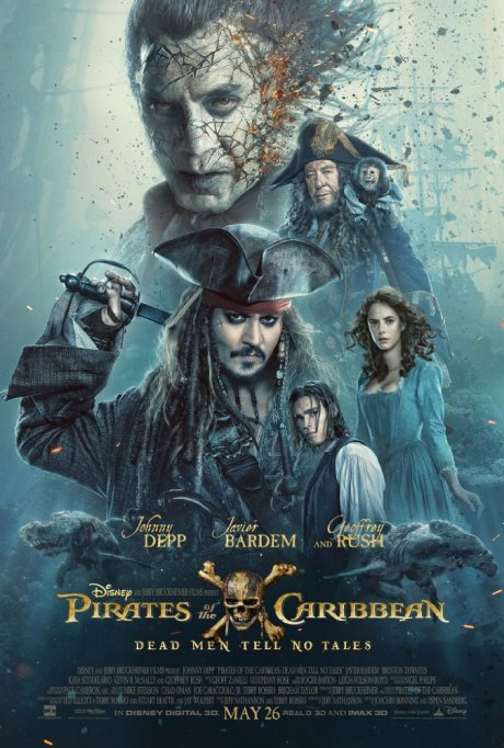 'Pirates of the Caribbean: Dead Men Tell No Tales' movie poster