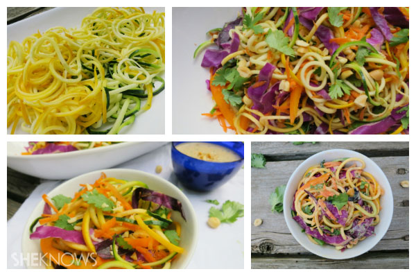 Pad thai with zucchini noodles last steps | Sheknows.ca