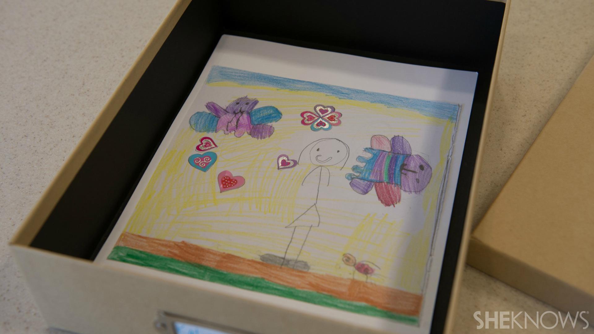 School project storage box | Sheknows.com - attach artwork