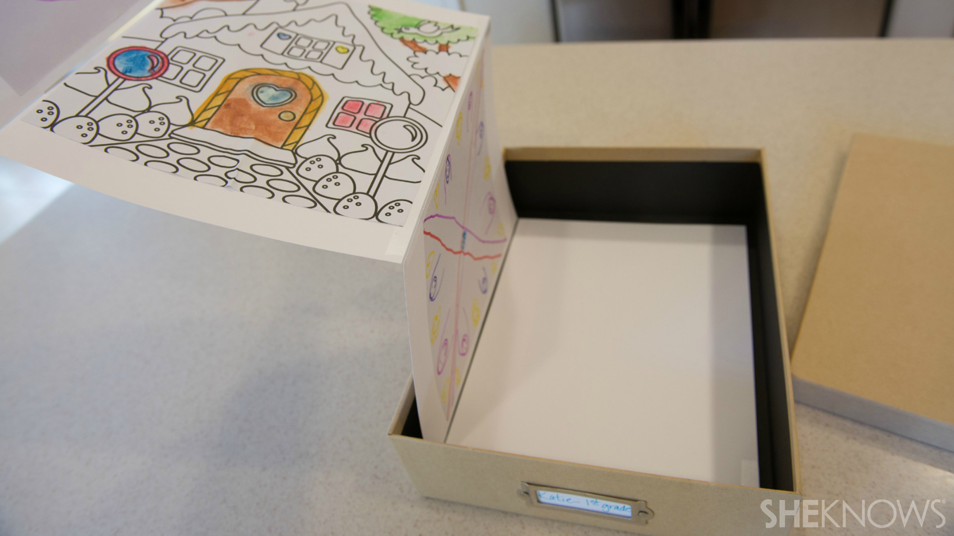 School project storage box | Sheknows.com - attach to box