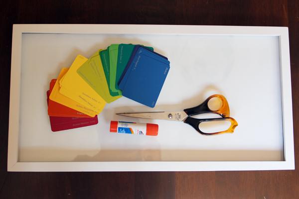 paint chip wall art supplies
