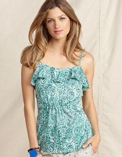 paisley ruffle shirt