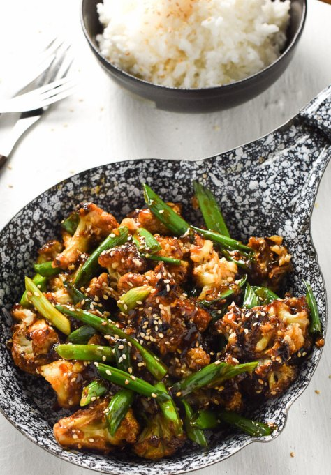 Recipe swaps to help your partner eat healthier | General Tso's cauliflower