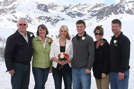 Sarah Palin and Track Palin wedding