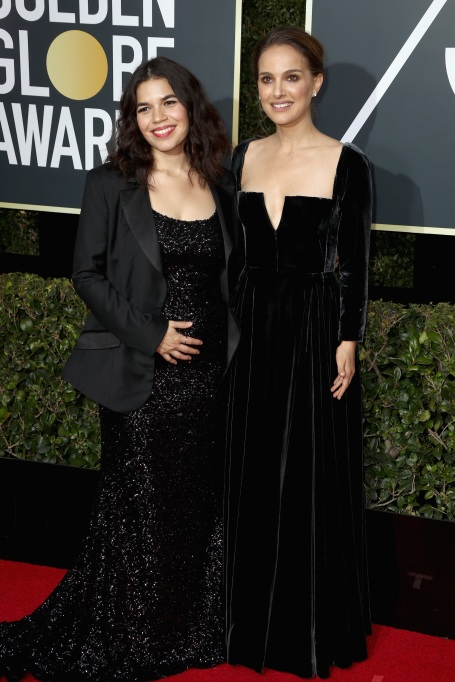 Pregnant Celebs Rocked the Golden Globes #TimesUp Movement: America Fererra