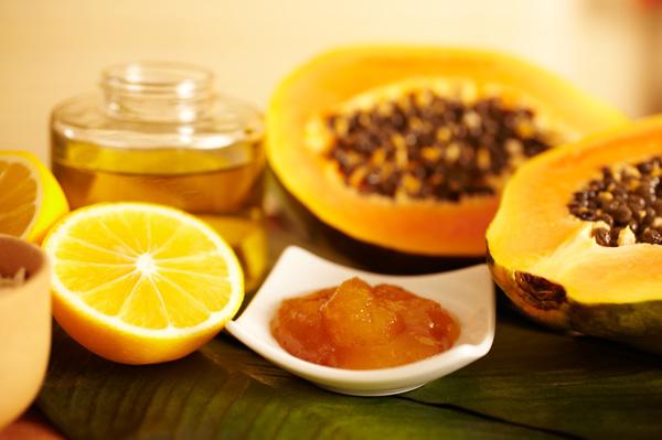 Papaya and honey and skincare