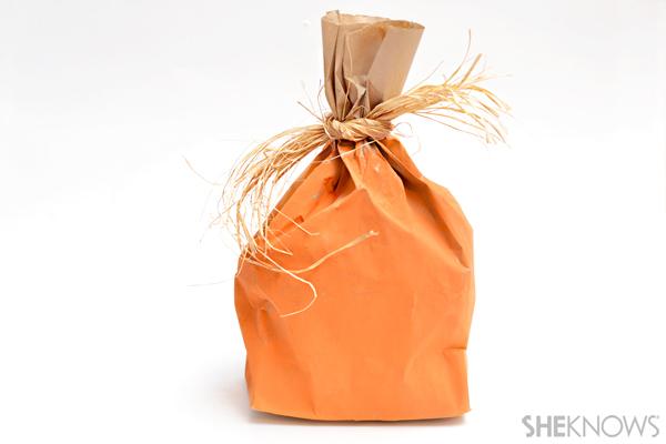 Paper bag pumpkin craft