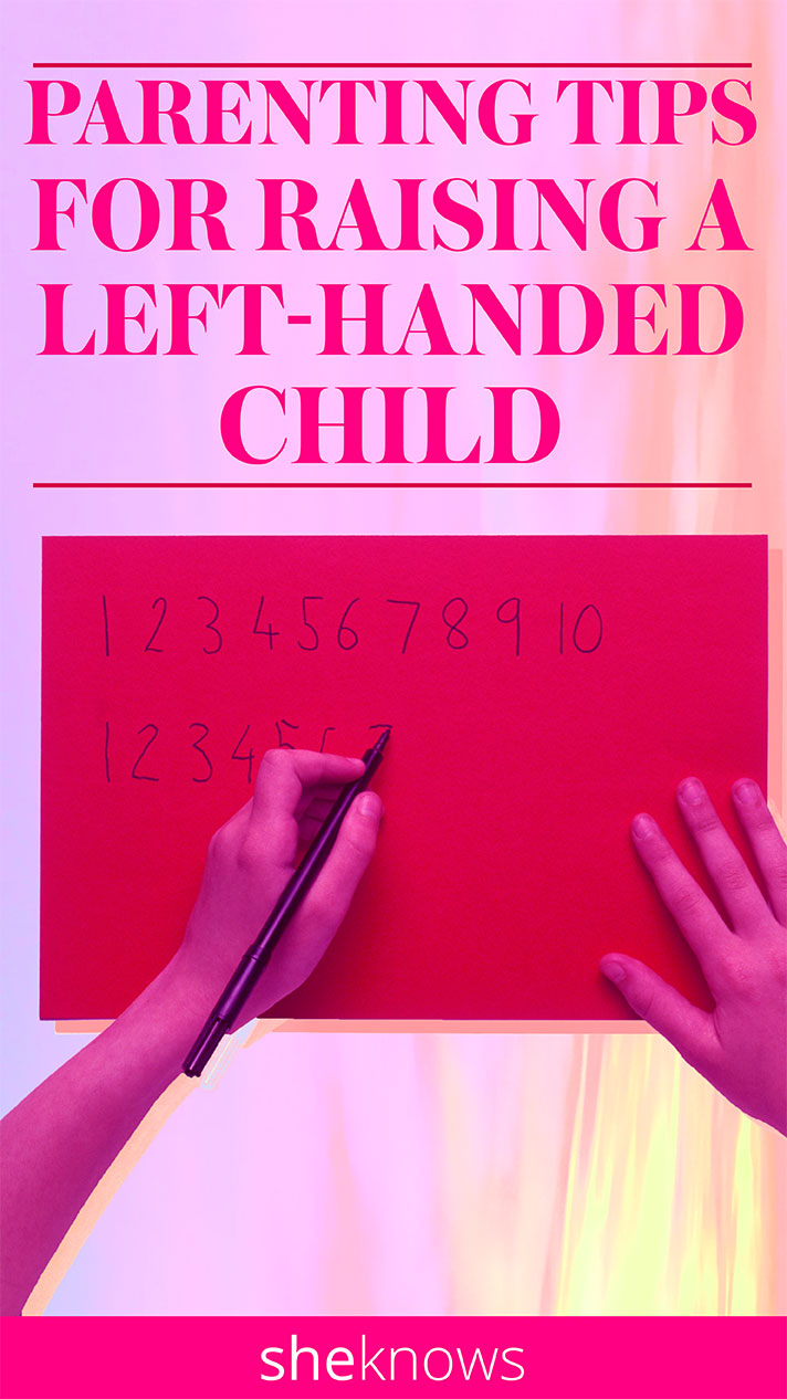 These tips will help parents raise a left-handed child.