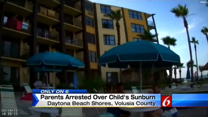 Foster parents arrested for sunburned, dehydrated