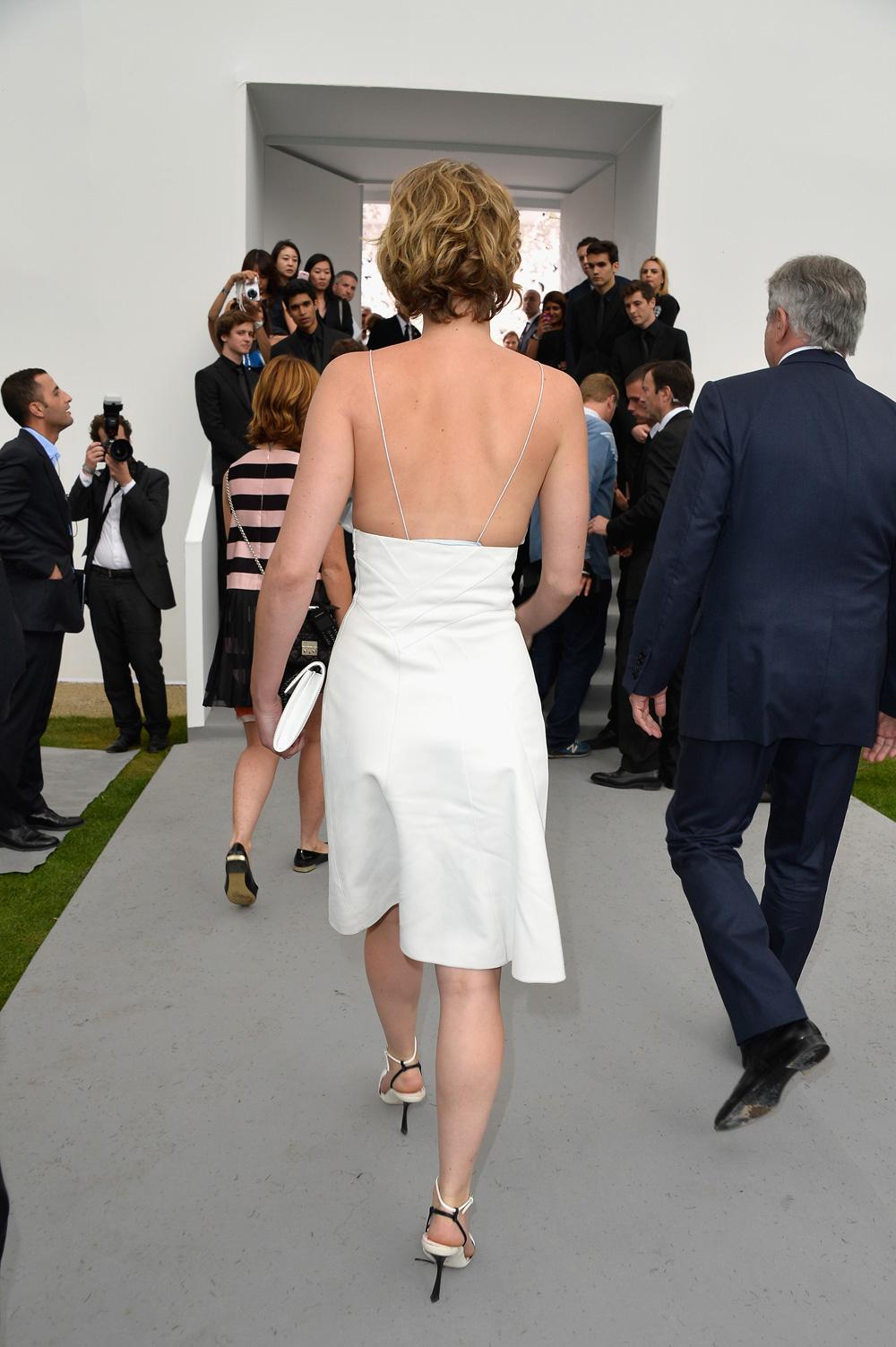 Jennifer Lawrence at Paris Fashion Week
