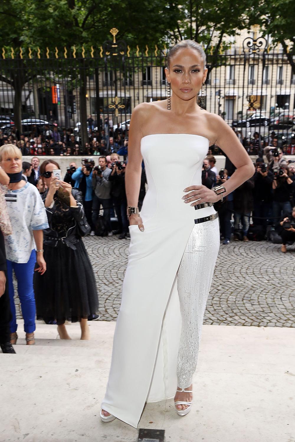 Jennifer Lopez at Paris Fashion Week