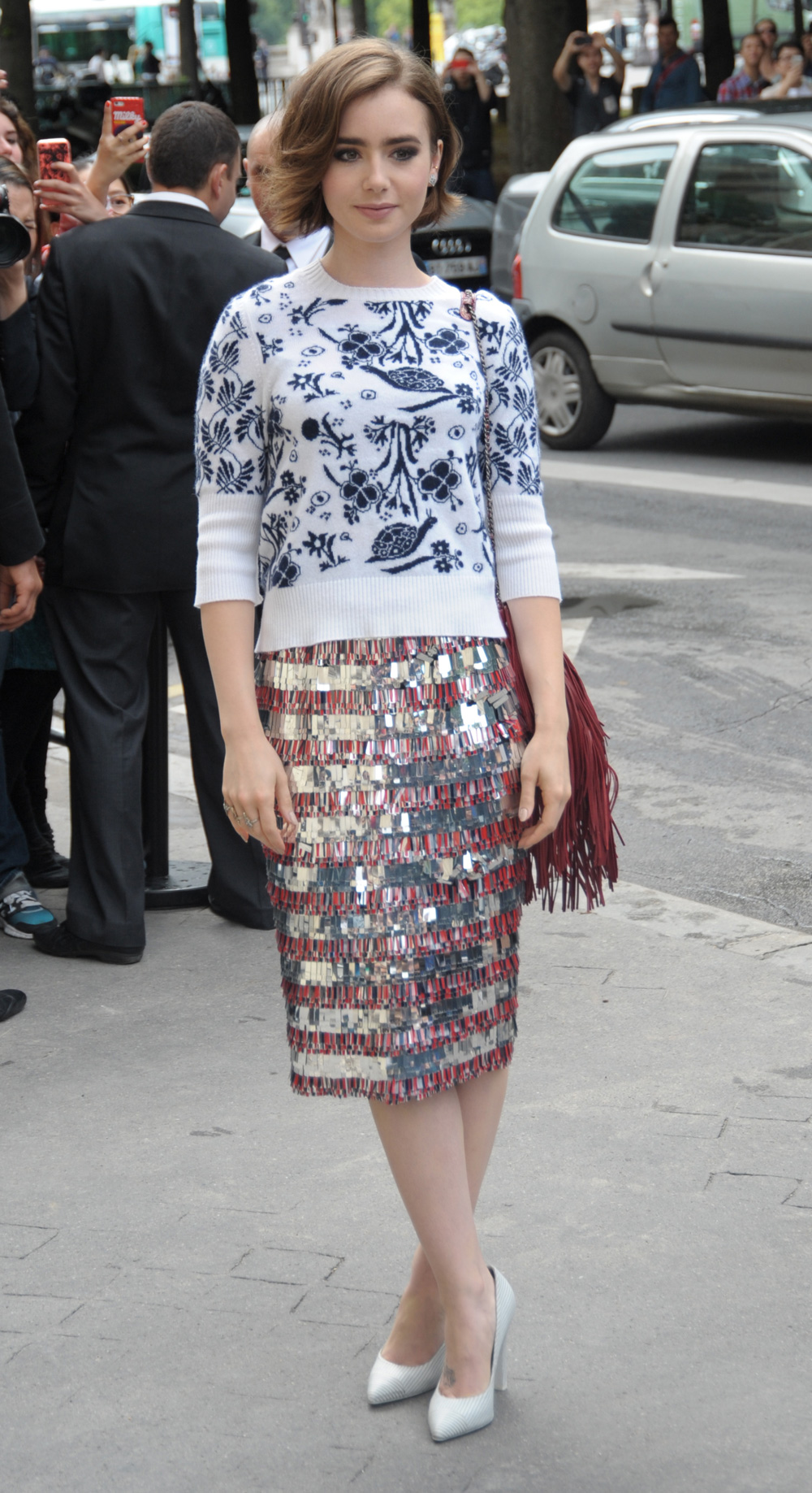 Lily Ollins at Paris Fashion Week
