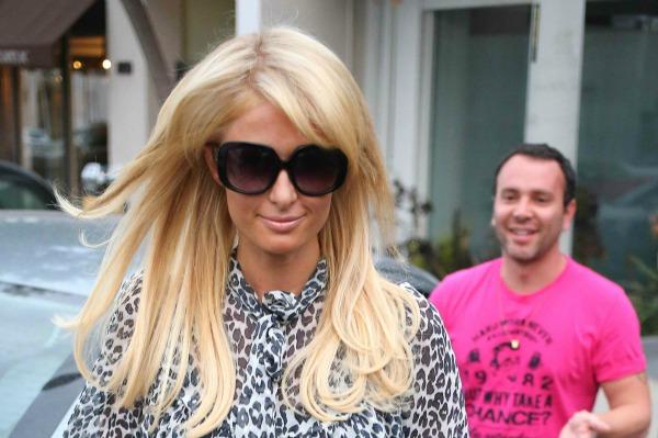 Paris Hilton Leaving a West Hollywood Salon
