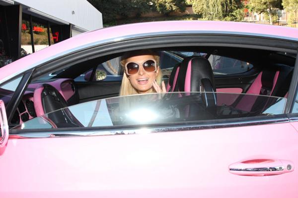 Paris Hilton pink Bentley