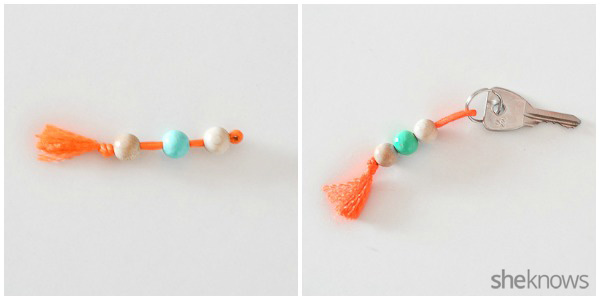 DIY Colorful Beaded Keychains 3