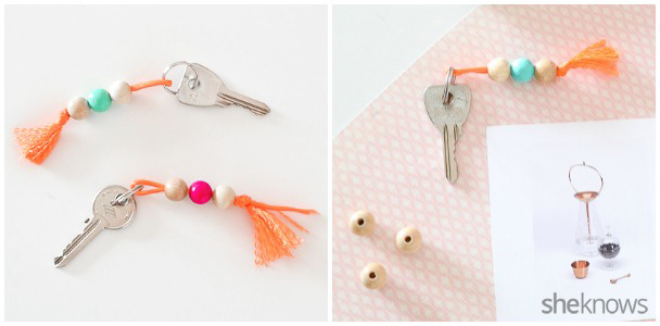 DIY Colorful Beaded Keychains 4