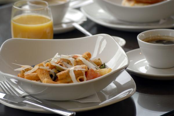 Pasta for breakfast