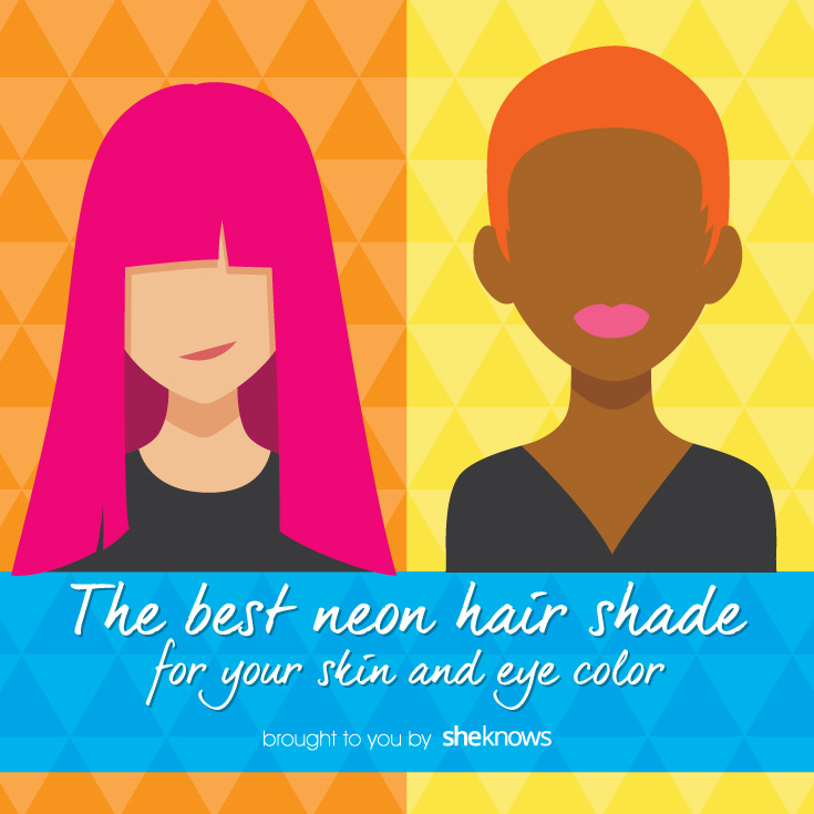 The best pastel and neon hair color for your skin tone and eye color