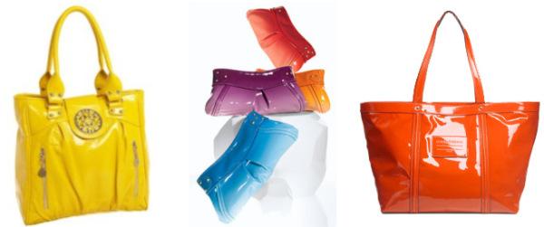 Patent leather handbags