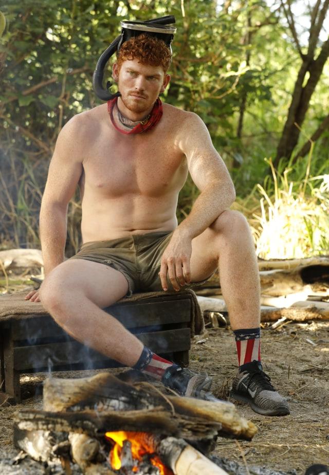 Patrick Bolton at Hustlers cap on Survivor: Heroes Vs. Healers Vs. Hustlers