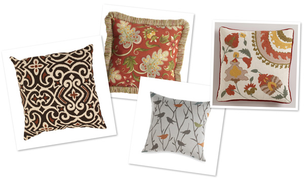 Patterned pillows for fall