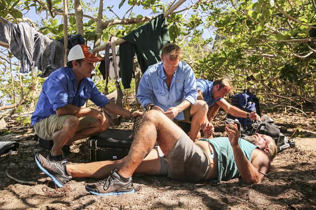 Paul Wachter medically evaluated for dehydration on Survivor: Millennials Vs. Gen-X