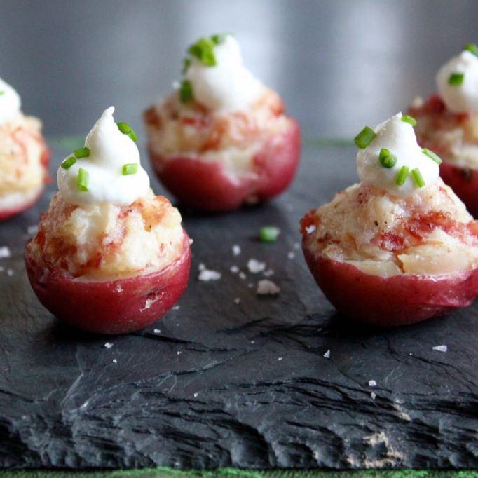 Irish potato bites with sour cream
