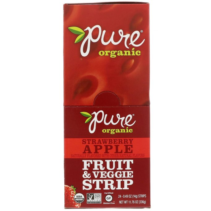 Pure Organic Strawberry Apple Fruit & Veggie Strip