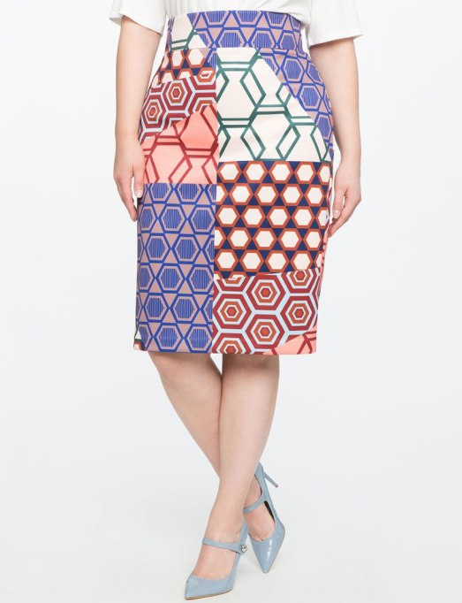 Ways To Wear Graphic Prints: Neoprene skirt, at Eloquii | Fall Fashion