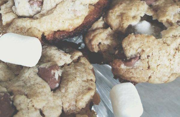 Campfire s'mores cookies