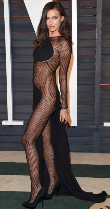 Irina Shayk naked dress
