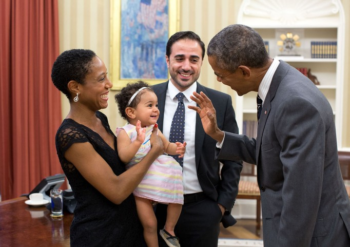 Obama and a cute baby