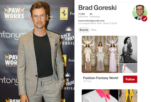 Celebs on Pinterest: Brad Goreski