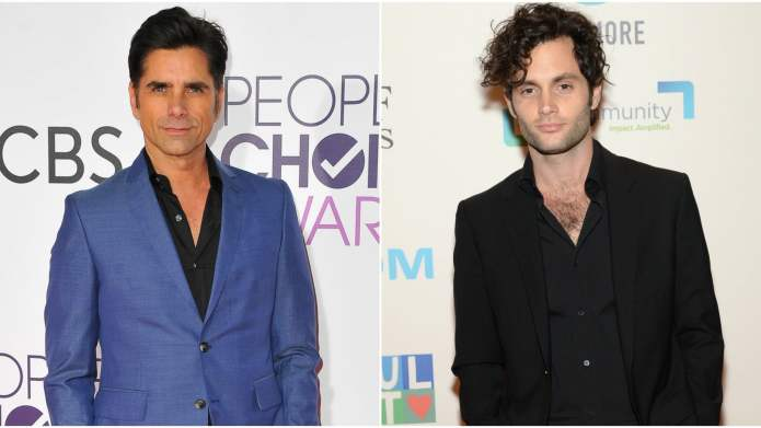 John Stamos & Penn Badgley Are