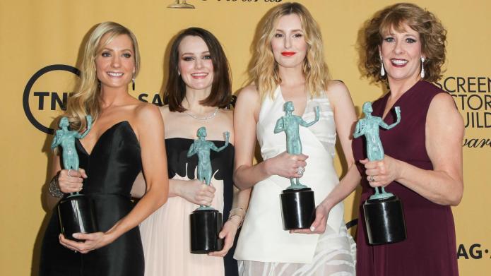 Downton Abbey stars celebrate SAG Award