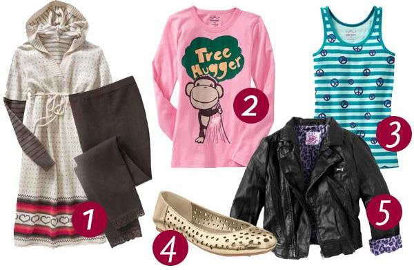 Top 5 trends in girls' clothes