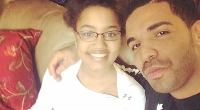 Drake with fan