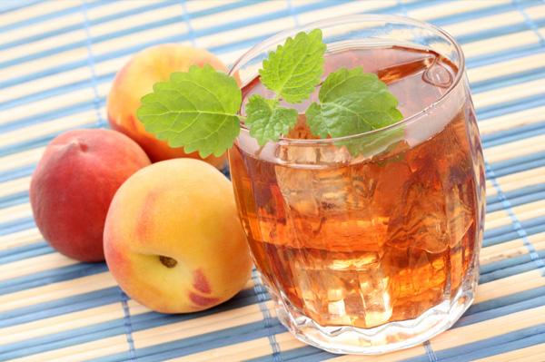 Peach infused ice tea