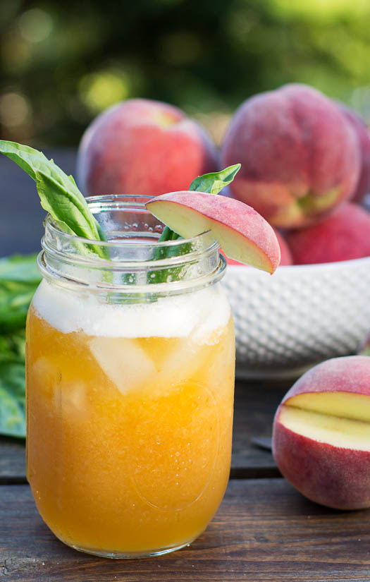 peach basil julep