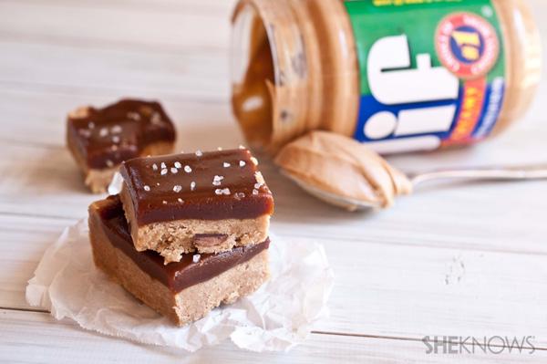 peanut butter caramel shortbread