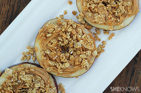 Peanut butter apple and granola