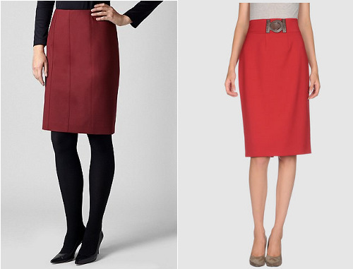 Red skirts