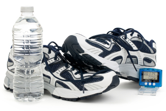 Pedometer and running shoes