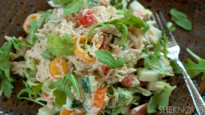 Healthy end-of-summer pasta salad is your