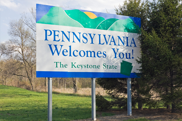 Pennsylvania Road Sign