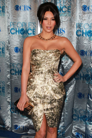 Kim Kardashian best dressed at the 2010 People's Choice Awards
