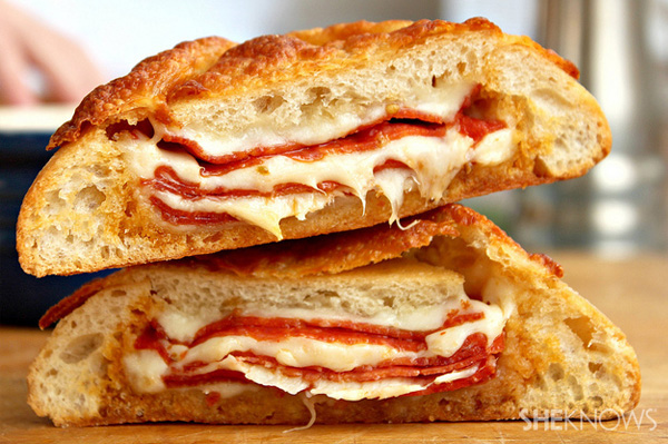 Pepperoni & Cheese stuffed Ciabatta bread