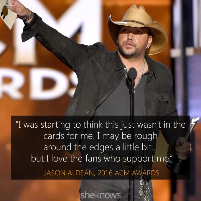 Jason Aldean 2016 ACM Awards acceptance speech