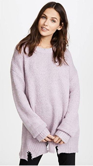 Ways To Wear Pastels This Fall | Distressed Sweater