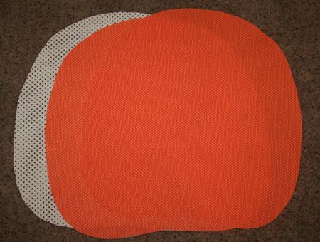 Step 1: Cut out your pumpkin shapes